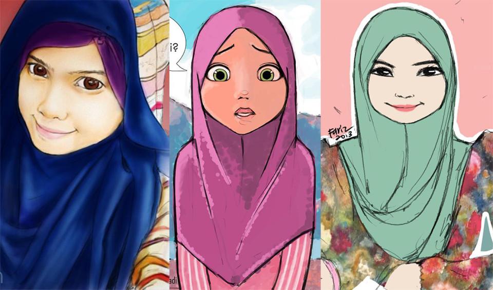 3 Gambar Kartun Cun Yang Pernah Aku Lukis Fariz Izhan
