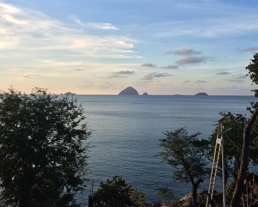 pemandangan matahari terbenam pulau perhentian