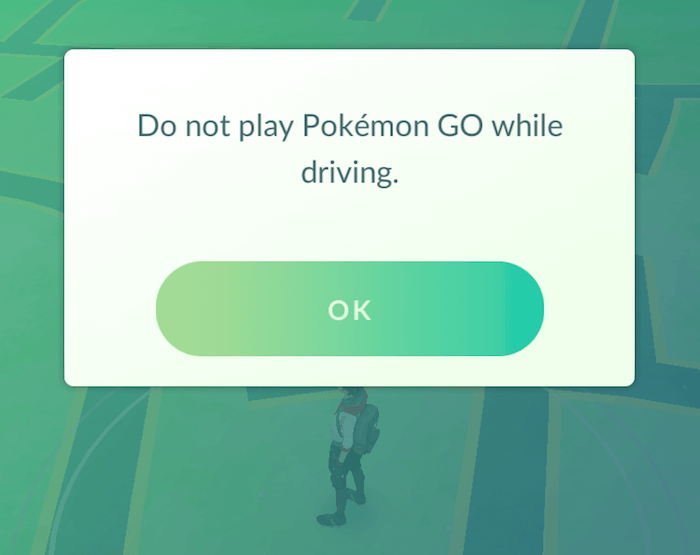 do not play pokemon go while driving
